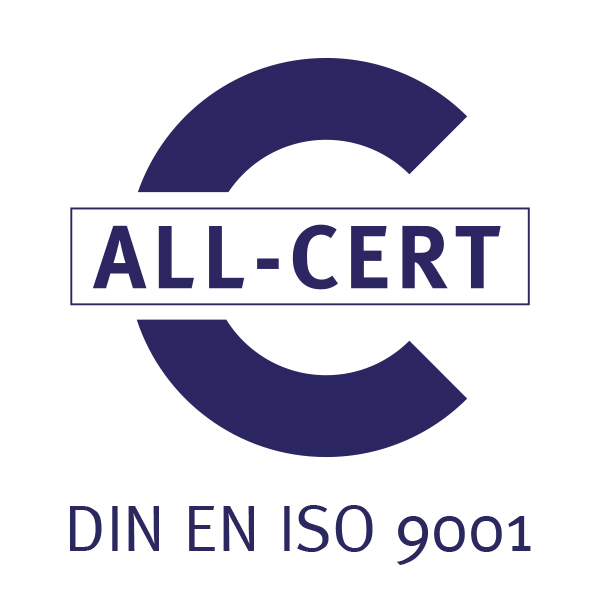 ALL-CERT: DIN EN ISO 9001 Logo